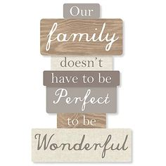 Our Family Plaque | Dunelm