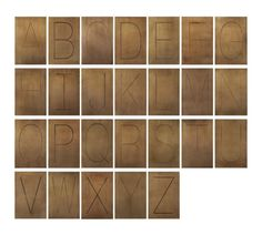 Vintage typeface inspired by an antique letterpress gains graphic impact enlarged and incised into metal plaques burnished to a brassy patina.  Use individually or mix or match these san serif classics to display initials, spell out a significant name or note a favorite team. HandcraftedIron with multi-step brass finishFor indoor display onlyDust with soft dry clothMade in India.