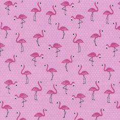 Fabric... Mini Luau Flamingos by Timeless Treasures Mini