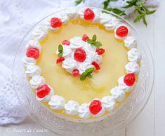 Prajitura cu iaurt si ananas ( fara coacere) - Desert De Casa - Maria Popa Jacque Pepin, Biscuit, Sweets, Cake, Desserts, Tarts, Meals, Cookie Favors, Sweet Pastries