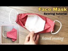 [hand sewing] How to make a face mask with filter pocket Easy Face Masks, Diy Face Mask, Sewing Hacks, Sewing Tutorials, Sewing Projects, Mascara 3d, 3d Face, Pocket Pattern, Diy Mask