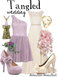 """Tangled - Wedding"" by disneythis-disneythat ❤ liked on Polyvore"