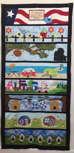 Strip Quilts, Panel Quilts, Cute Quilts, Easy Quilts, Quilt Hangers, Row By Row Experience, Sampler Quilts, Colorful Quilts, Landscape Quilts