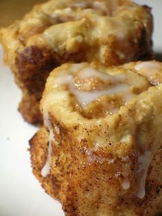 Cinnamon rolls, no yeast, just baking powder and buttermilk!