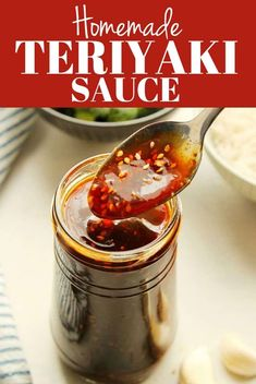 Homemade Teriyaki Sauce recipe - the best and easiest sauce for Asian dishes! You only need a few in - Homemade Teriyaki Sauce recipe – the best and easiest sauce for Asian dishes! Chicken Stir Fry Sauce, Easy Beef Stir Fry, Homemade Stir Fry Sauce, Asian Stir Fry, Homemade Recipe, Sauce For Stir Fry, Basic Stir Fry Sauce Recipe, Vegetarian Stir Fry Sauce, Salsa Teriyaki Casera
