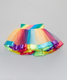Another great find on #zulily! Wenchoice Rainbow Stripe Tutu - Toddler & Girls by Wenchoice #zulilyfinds