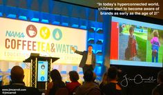 In todays hyperconnected world children start to become aware of brands as early as the age of 2! - #Futurist Jim Carroll  A photo from my keynote for NAMAs Coffee Tea and Water conference in Dallas earlier this week. I speak to quite a few events about consumer trends and consumer behaviour. This is a fascinating statistic I came up with a few years ago during my research!