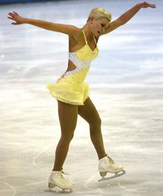 Victoria Helgesson, Sweden in Yellow Figure Skating Dress -Yellow Figure Skating / Ice Skating dress inspiration for Sk8 Gr8 Designs.