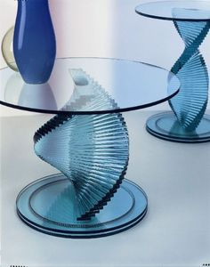 Glastisch design karim rashid tonelli  Dekon 2' glass coffee table from Tonelli designed by Karim Rashid ...