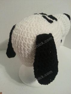 Charlie Brown's Snoopy the Dog Character Hat Crochet Pattern (13)