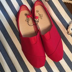 Red comfy shoes Lovely dark red brand new Boutique Shoes