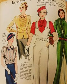 Here is another page of Weldon's Portfolio of Fashion from 1936. #thirtiesfashion #30sstyle #30sfashion #fashionillustration #vintagefashion