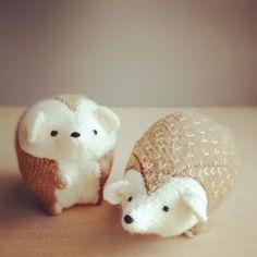 {hedgehog brethren} by ohalbatross - sweetest little plush hedgehogs!