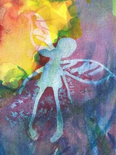Fairy 6  (Jann Hill) Abstract Watercolor, Fairy, Paintings, Paint, Painting Art, Painting, Elf, Drawings, Pictures