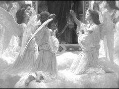 Angelus Domini - Traditional Roman Catholic Hymn William Adolphe Bouguereau, Catholic Art, Religious Art, Catholic Hymns, Roman Catholic, I Believe In Angels, Angels Among Us, Angel Pictures, Angels In Heaven