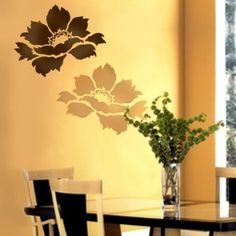 Flower Stencil Tree Peony size Med - Reusable stencils for DIY decor