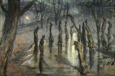 'Chocholy;Planty nocą', 1898/1899 - Stanislaw Wyspianski (1869–1907)