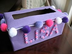 kids valentine box - this is great to recycle tissue boxes from the classroom! One for each kid to decorate for a valentines mailbox and easy to carry home!