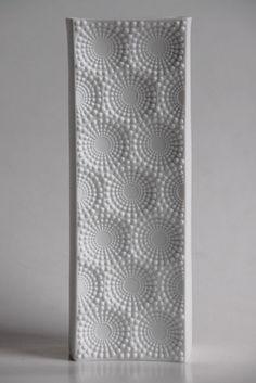 Vintage Bisque Op Art  Vase >>1001vintage on Etsy