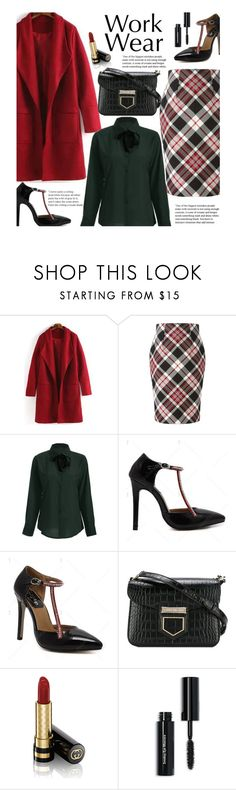 """Work Wear (office style)"" by beebeely-look ❤ liked on Polyvore featuring Alexander McQueen, Givenchy, Gucci, Bobbi Brown Cosmetics, WorkWear, plaid, streetwear, officestyle and twinkledeals"