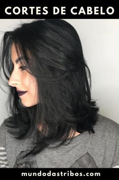 Que corte! Que corde cabelo! Medium Black Hair, Short Brown Hair, Medium Hair Cuts, Thick Hair, Medium Length Hairstyles, Short Black Hairstyles, Brunette Hair Cuts, Langer Bob, Bright Hair