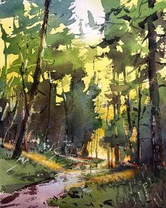 Pacific Northwest Plein Air paint out starts today, look forward to painting with my friends for the next few days. Watercolor Landscape Paintings, Watercolor Trees, Watercolor Artists, Watercolor Portraits, Landscape Art, Abstract Paintings, Indian Art Paintings, Bird Paintings, Southwest Art