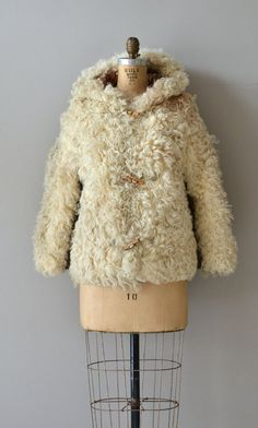 Mongolian Lamb coat / 1970s fur coat / 70s curly by DearGolden, $224.00