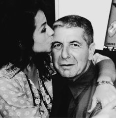 Leonard Cohen and Perla Batalla, picture seen on 'DRHGUY-Another Other Leonard Cohen Site'.