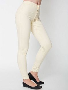 Easy Jean in Creme - American Apparel