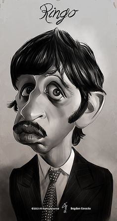 Caricatura de Ringo Starr.