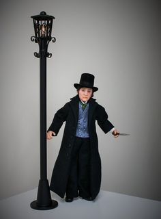 Jack the Ripper hand sculpted miniature dollhouse doll in