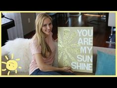DIY | QUOTE ON CANVAS (cute, easy art!) - YouTube