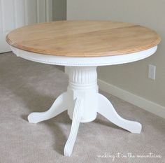 Light and Bright Kitchen Table Makeover :: Guest Post - brepurposed