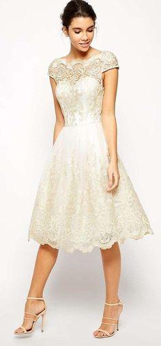 Short Wedding Dresses : Asos Chi Chi London Premium Metallic Lace Midi Prom Dress with Bardot Neck Bridesmaid Dresses, Prom Dresses, Formal Dresses, Dress Prom, Lace Bridesmaids, Midi Dresses, Formal Wear, Evening Dresses, Pretty Dresses