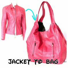 That is the jacket and a bag I made out of it