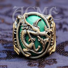 Jack sparrow Griffin dragon Ring Pirates of by AcmeBrandReplicas