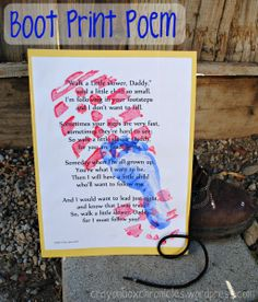 Such a great Father's Day Craft/Gift - Love the poem too!