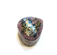 Cloisonne Pill Box Flowers TINY VINTAGE Hinged Cloisonne Pill Box Trinket Cobalt Blue Vintage Cloisonne Flowers Pill Box Snuff Box (A214) by punksrus on Etsy