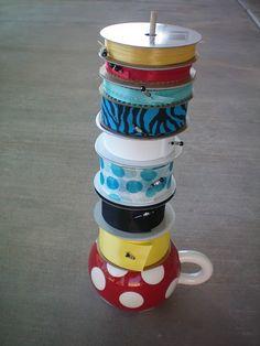 """ribbon holder craft #storage idea"" #furniture #painting #craftroom #inspiration"