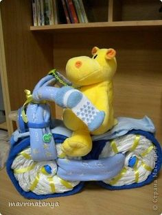 DIY Hippo on the Bike Diaper Gift Step 19