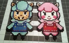 Perler sprites of the Animal Crossing characters by dogercraft