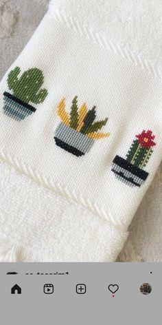 Cactus Cross Stitch, Cross Stitch Rose, Cross Stitch Flowers, Cross Stitching, Cross Stitch Embroidery, Embroidery Patterns, Hand Embroidery, Cross Stitch Designs, Cross Stitch Patterns
