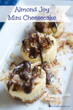 Almond Joy Mini Cheesecake - Eazy Peazy Mealz