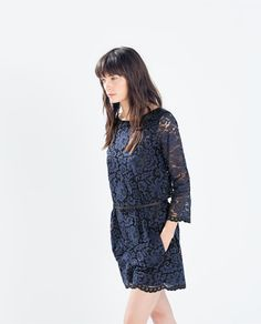 Image 3 of LACE JUMPSUIT from Zara