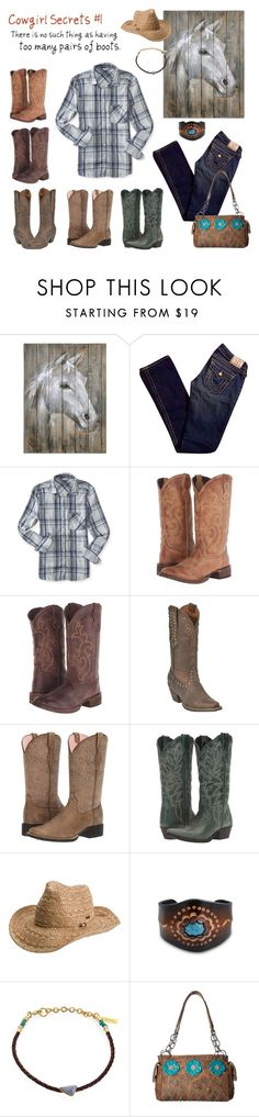 """""""Untitled #1296"""" by shemomjojo ❤ liked on Polyvore featuring True Religion, Aéropostale, Roper, Ariat, Laredo, Roxy, Bling Jewelry, Lizzie Fortunato and M&F Western"""