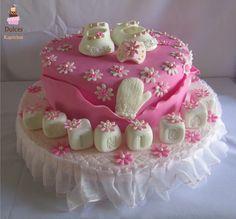 Torta Baby Shower #TortaBabyShower #TortasDecoradas