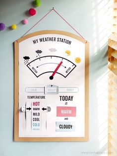 Interactive Weather Station Printable - Pinned by @PediaStaff – Please Visit ht.ly/63sNtfor all our pediatric therapy pins