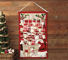 Pottery Barn Knock-Off Advent Calendar- The Stocking Advent Calendar Mini Tutorial - It Happens in a Blink