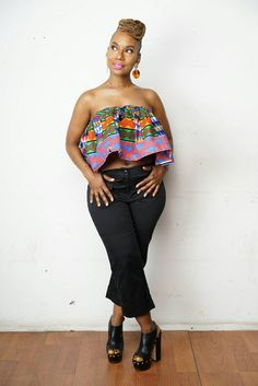 Kabila crop top is a fully lined crop top with ruffle detailing. A cute way to dress up a pair of jeans or wear it with the coordinating Kabila