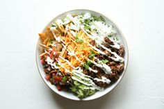 Loaded Burrito Bowls Horizontal Mexican Food Recipes, Beef Recipes, Dinner Recipes, Cooking Recipes, Healthy Recipes, Ethnic Recipes, Mexican Dishes, Dinner Ideas, Healthy Meals